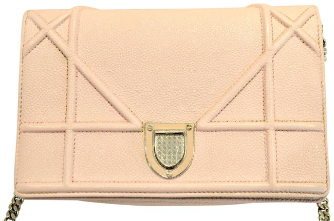Item - Wallet on Chain ama Pouch Rose Poudre Pink Leather Cross Body Bag
