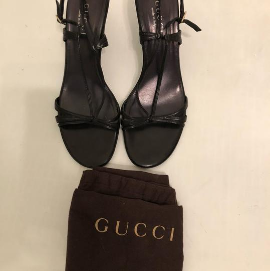 Gucci Gold Hardware Guccissima Gg Black Sandals
