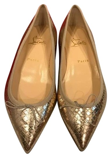 Preload https://img-static.tradesy.com/item/22602365/christian-louboutin-gold-solasofia-snake-leather-ballerina-flats-size-eu-38-approx-us-8-regular-m-b-0-1-540-540.jpg