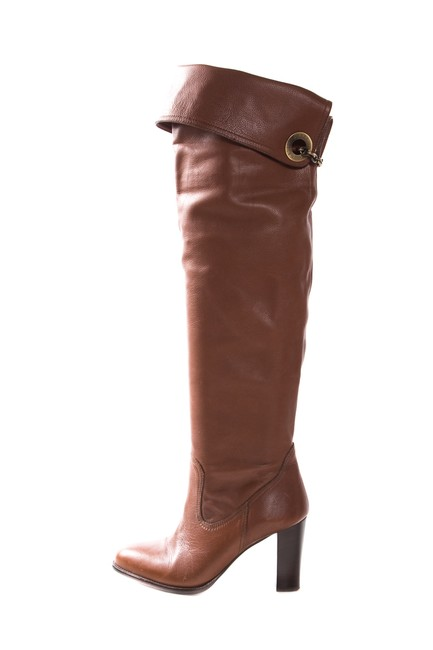 Bally Brown Leather Over-the-knee Toggle Detail Boots/Booties Size US 9 Regular (M, B) Bally Brown Leather Over-the-knee Toggle Detail Boots/Booties Size US 9 Regular (M, B) Image 1