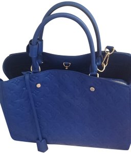 1774153e79fe Louis Vuitton Lockmeto Marine Rouge Shoulder Handbag M54571 Blue ...