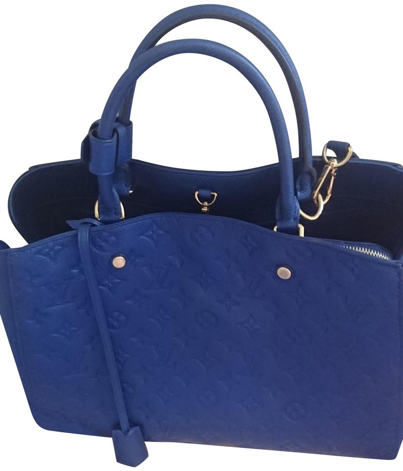 ce64cf62f199 Louis Vuitton Montaigne Gm Royal Blue Leather Shoulder Bag - Tradesy
