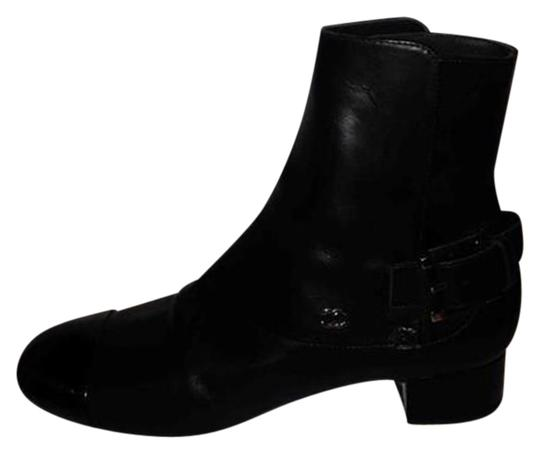 Preload https://img-static.tradesy.com/item/22602488/chanel-black-13b-leather-patent-cap-toe-buckled-ankle-bootsbooties-size-eu-37-approx-us-7-regular-m-0-1-540-540.jpg
