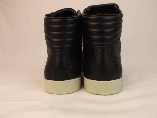 Gucci Black Gg Guccissima Web Hi Top Sneakers 9 10 #221825 Shoes