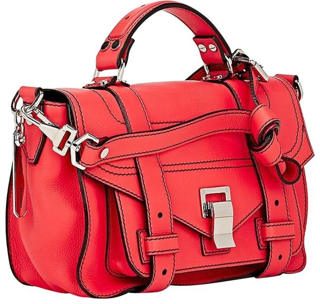 Proenza Schouler Bag Ps1+ Tiny Red Leather Satchel Proenza Schouler Bag Ps1+ Tiny Red Leather Satchel Image 1