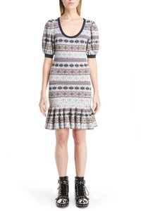 Alexander McQueen short dress Blue Lace Mini Night Out Printed on Tradesy