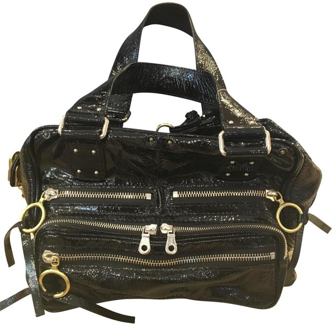 Chloé Betty Black Patent Leather Shoulder Bag Chloé Betty Black Patent Leather Shoulder Bag Image 1
