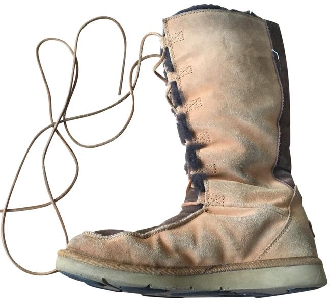 UGG Australia Tan Lace Up Winter Boots/Booties Size US 8 Regular (M, B) UGG Australia Tan Lace Up Winter Boots/Booties Size US 8 Regular (M, B) Image 1