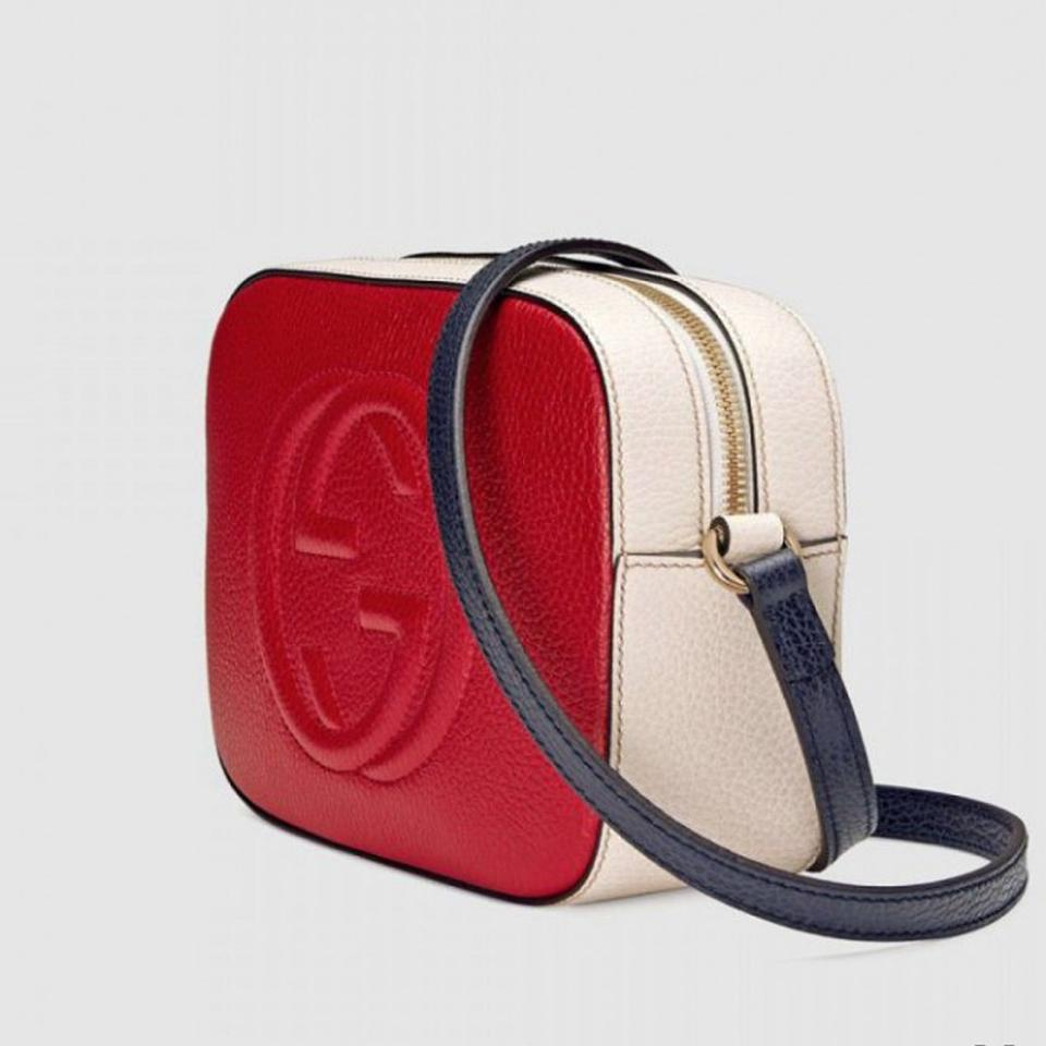 23bb7257e34 Gucci Soho Women s Disco Red White 431567 Red White Blue Leather ...
