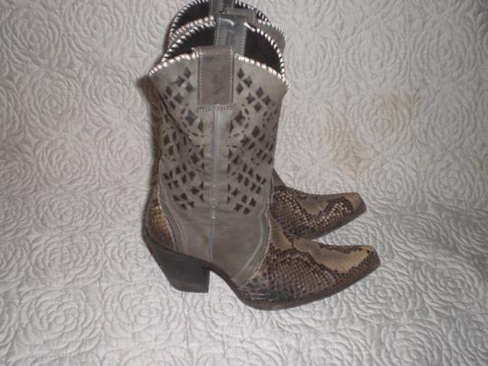 CUADRA Leather gray Boots Image 2