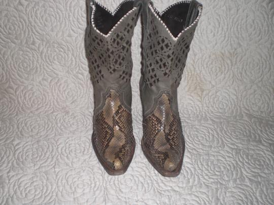 CUADRA Leather gray Boots Image 3
