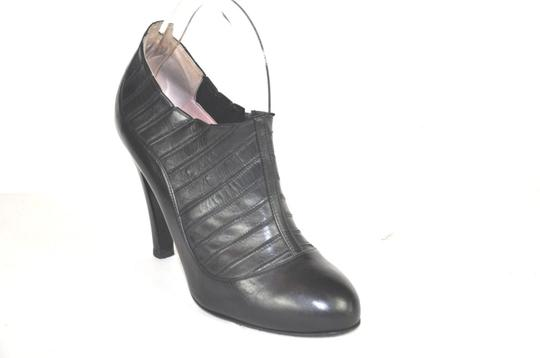 Chanel Round Black Boots Image 4