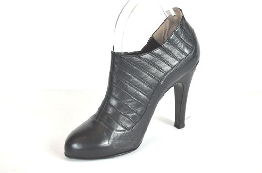 Chanel Round Black Boots Image 6