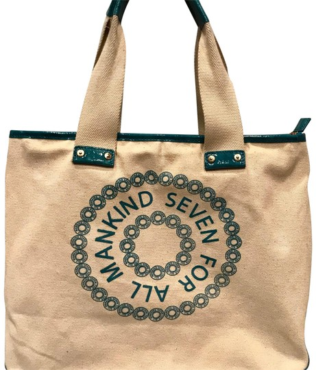 Preload https://img-static.tradesy.com/item/22603112/7-for-all-mankind-patent-lthr-purse-beige-n-turquoise-canvas-tote-0-1-540-540.jpg
