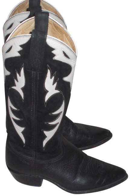 Dan Post Boots Black/Ivory Black/Ivory Leather Cowboy Western M Boots/Booties Size US 6.5 Regular (M, B) Dan Post Boots Black/Ivory Black/Ivory Leather Cowboy Western M Boots/Booties Size US 6.5 Regular (M, B) Image 1