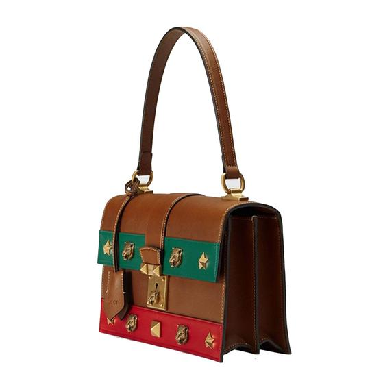 Gucci Women's Tiger Animalier Tote in Brown Image 1