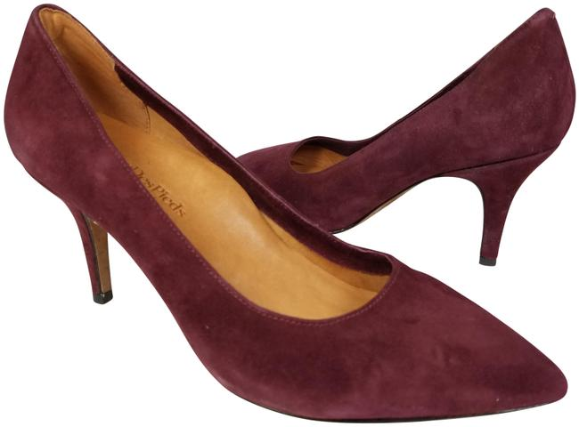Wine/ Bordeaux New Bordeaux/ Leather Suede Heels Pumps Size US 10 Regular (M, B) Wine/ Bordeaux New Bordeaux/ Leather Suede Heels Pumps Size US 10 Regular (M, B) Image 1