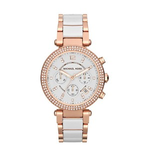 Michael Kors Michael Kors White Parker Chronograph Dial Ladies Watch - MK5774