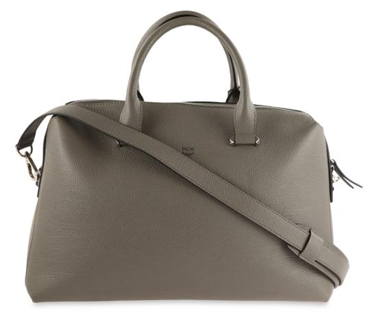 Preload https://img-static.tradesy.com/item/22603409/mcm-ella-boston-grey-leather-satchel-0-1-540-540.jpg