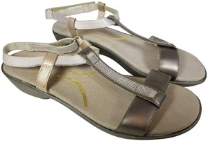 Naot Pewter/Dusty Silver/Satin Sandals