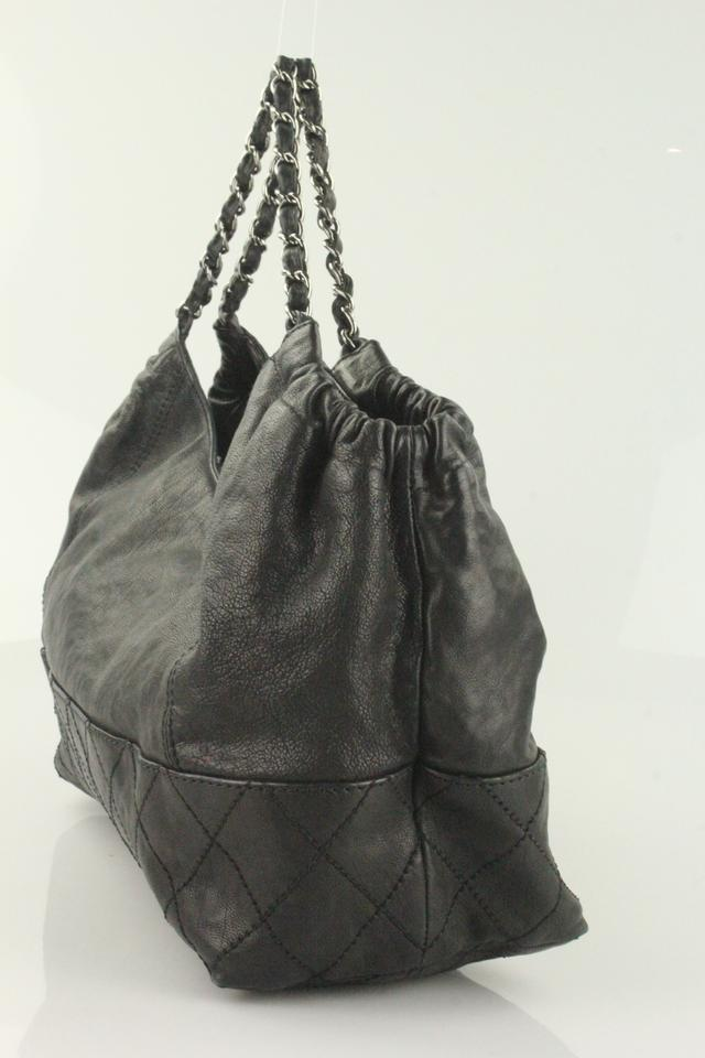 54cd1f354be4 Chanel Coco Cabas Petit Coco's Black Leather Hobo Bag - Tradesy