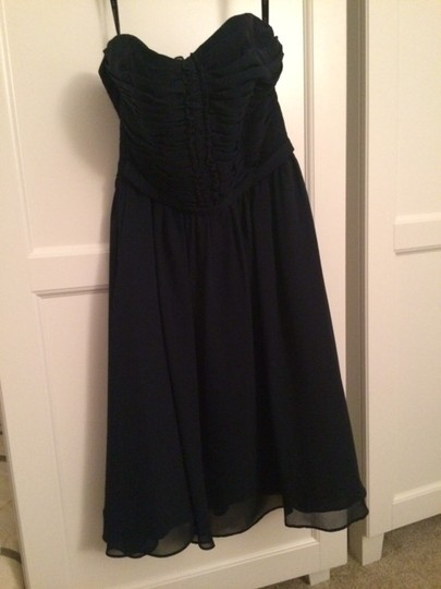 Alfred Angelo Navy Polyester 7143 Formal Dress Size 4 (S)