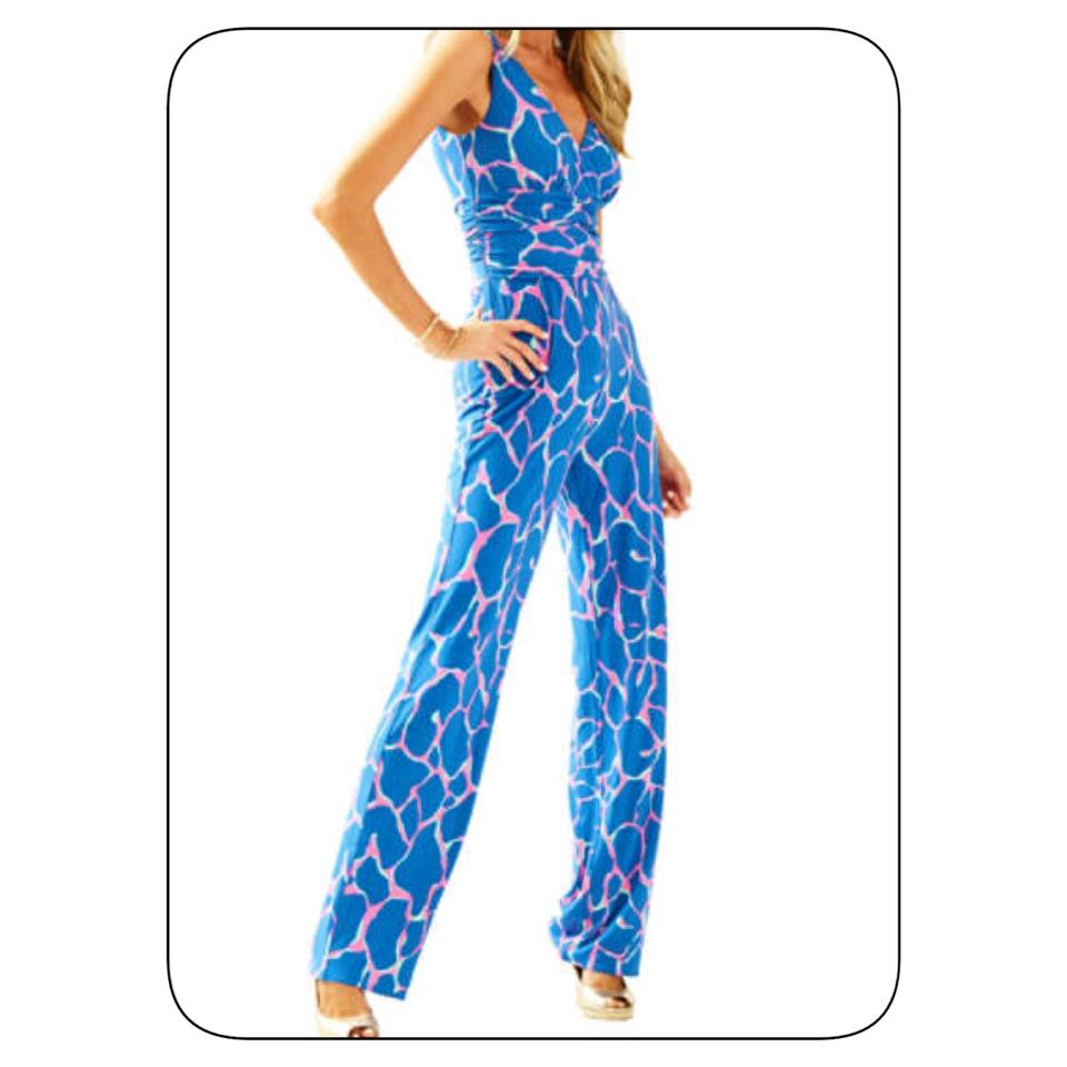9a7938370142e9 Lilly Pulitzer Blue Jumpsuit Pant Suit Size 0 (XS) - Tradesy