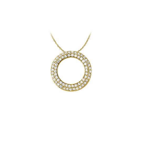 Preload https://img-static.tradesy.com/item/22603601/white-yellow-april-birthstone-cubic-zirconia-pretty-circle-pendant-in-gold-v-necklace-0-1-540-540.jpg