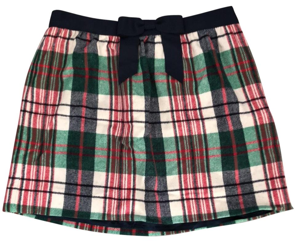 vineyard vines skirt plaid christmas colors red navy green cream