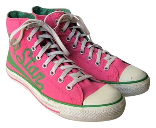 Preload https://img-static.tradesy.com/item/22603652/converse-pink-and-green-all-star-canvas-high-tops-10m-12w-sneakers-size-us-12-regular-m-b-0-1-540-540.jpg