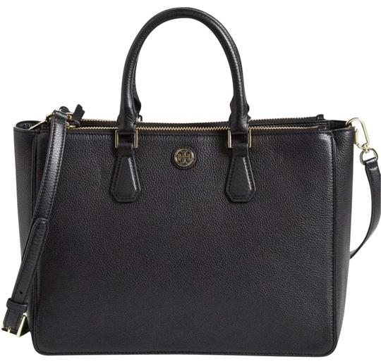 022de98b78d7 Tory Burch Black Leather Tote - Tradesy