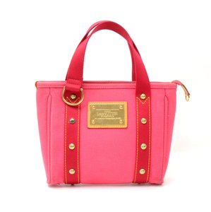 Louis Vuitton Antigua Canvas Handbag Limited Tote in Red