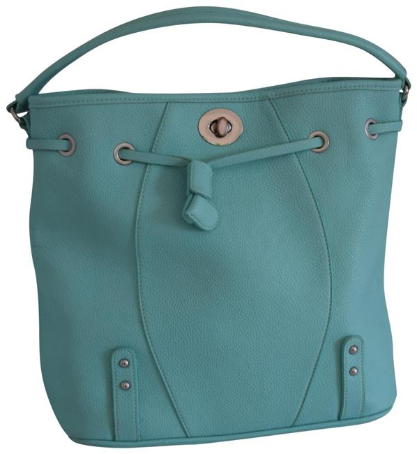 C. Wonder Aqua Blue Faux Leather Hobo Bag C. Wonder Aqua Blue Faux Leather Hobo Bag Image 1