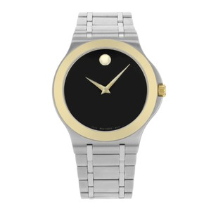 Movado Movado Black Dial Two Tone Watch