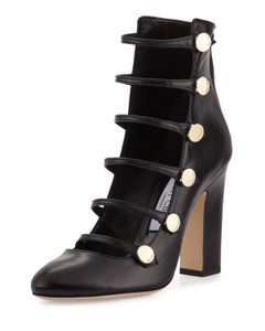 Jimmy Choo Made In Italy Luxury Designer Chunky Boot Black Pumps