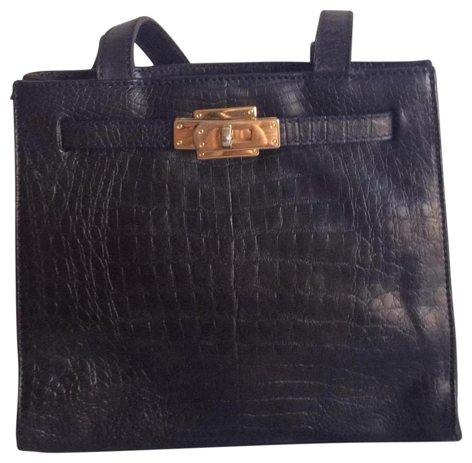 5d41c1921cd Paolo Masi Tote Black Leather Shoulder Bag 81% off retail