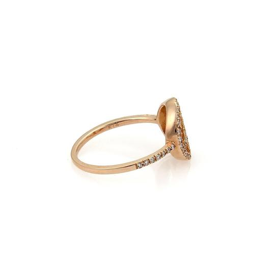 Other Diamond Peace Sign 14k Rose Gold Ring Image 2
