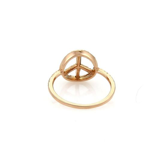 Other Diamond Peace Sign 14k Rose Gold Ring Image 3
