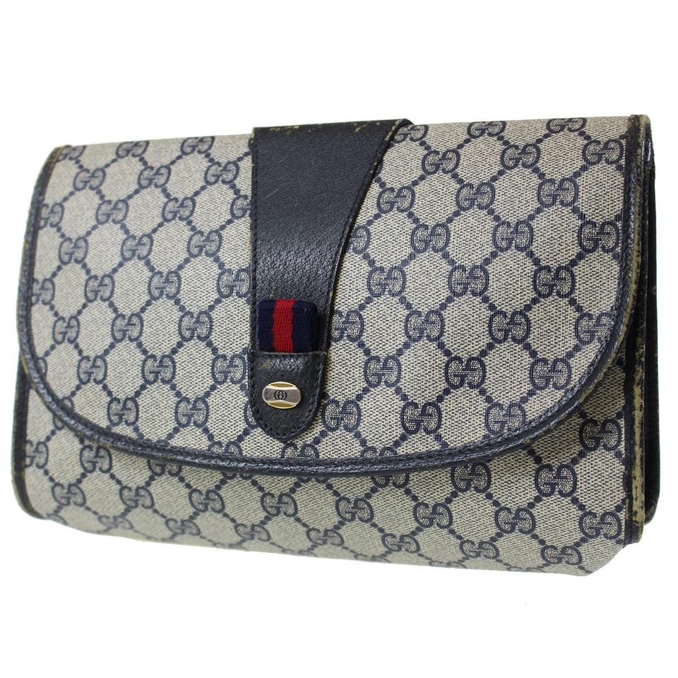 34b0dc45830 Gucci Cosmetic Bag Clutch Great For Travel Early Vintage G.a.c. Dressy Or  Casual Excellent Vintage ...