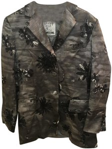 Moschino Cheap and Chic Floral Multicolor Gray Blazer