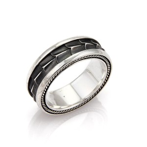 david yurman 21710 armory sterling silver 9mm wide mens band ring - David Yurman Mens Wedding Rings