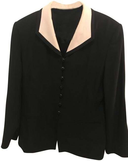 Kasper Black suit with white trim Image 0