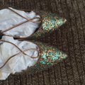 Aquazzura Multicolor Christy Circus Multi Glitter Lace Up Leather Flats Size EU 37.5 (Approx. US 7.5) Regular (M, B) Aquazzura Multicolor Christy Circus Multi Glitter Lace Up Leather Flats Size EU 37.5 (Approx. US 7.5) Regular (M, B) Image 6