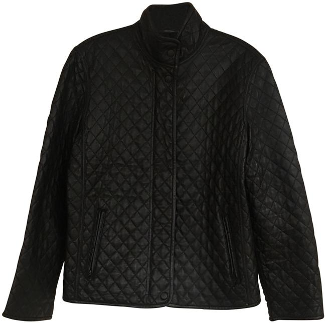 Hilary Radley Black Quilted Leather Jacket Size Petite 6 (S) - Tradesy : hilary radley quilted jacket - Adamdwight.com