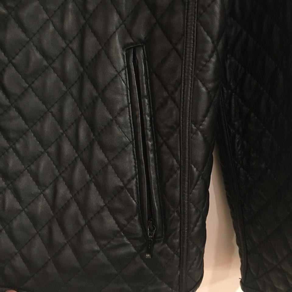 Hilary Radley Black Quilted Leather Jacket Size Petite 6 (S) - Tradesy : black quilted leather - Adamdwight.com