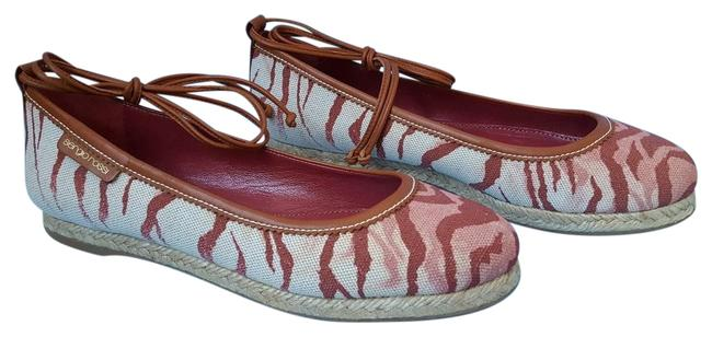 Sergio Rossi Red / Pink / Tan / Brown Tiger Canvas Lace Up Espadrille Ballet 5 Flats Size EU 35 (Approx. US 5) Regular (M, B) Sergio Rossi Red / Pink / Tan / Brown Tiger Canvas Lace Up Espadrille Ballet 5 Flats Size EU 35 (Approx. US 5) Regular (M, B) Image 1