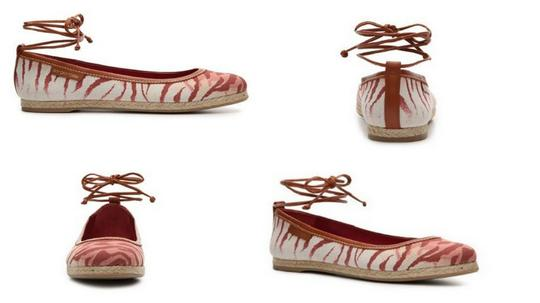 Sergio Rossi Red / Pink / Tan / Brown Flats Image 1