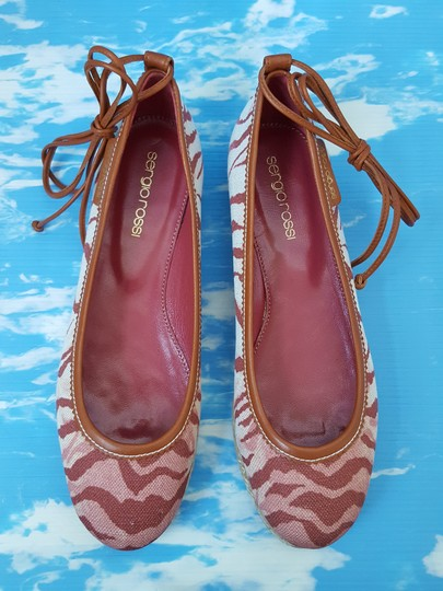 Sergio Rossi Red / Pink / Tan / Brown Flats Image 4