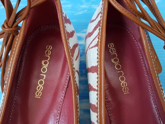 Sergio Rossi Red / Pink / Tan / Brown Flats Image 7