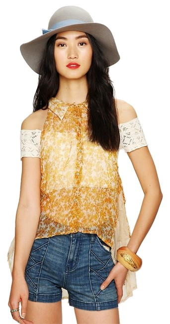 Preload https://item1.tradesy.com/images/free-people-top-yellow-2260400-0-0.jpg?width=400&height=650